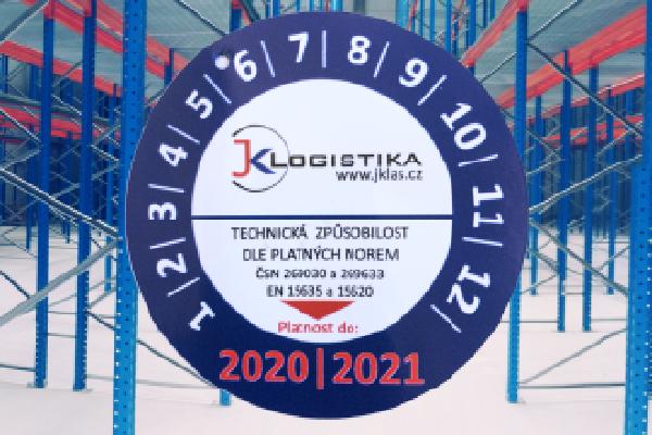 JK Logistika Revize regálů 1